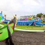 local boats on Canggu beach