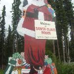 Enormous Santa outside the shop