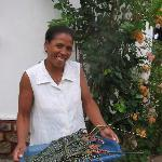 Nirina, Head Chef, w/ 1.5 kg lobster Chez Maggie Hotel