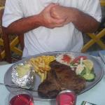 My last nights dinner in Roma...Delicious T-bone..