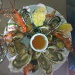 assiette de fruits de mer en entrée