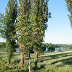 Blick von der Terrasse auf die Donau