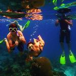 Snorkling off Mondriki Island