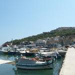 View across harbour
