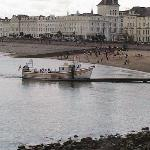 Pleasure boat and Llandudno proanade
