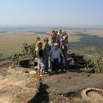 part of our group - overlooking the Mara