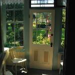 The enclosed porch with the Garden Room