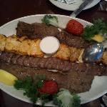 Chicken Sultani, Koobideh and Gyros meat