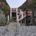 Stairs down to Sand Dollar Beach