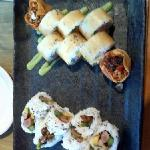 wonton wrapper sushi