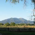 Taos Mountain from the well shaded property