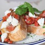 Bruschetta topped w/jumbo lump crab