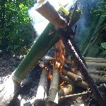When we visited the Longhouse the tribal people cooked bamboo chicken for us fresh out of the ju