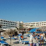 Foto dell'hotel dalla spiaggia