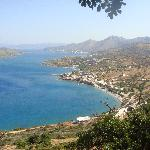 View from the hill overlooking Plaka & Elounda