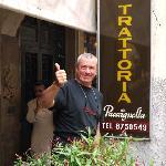 Cesare outside his restaurant