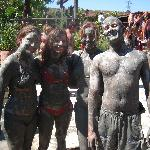 Mud caked revellers!