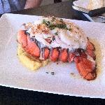 Lobster tail appetizer with lavender butter