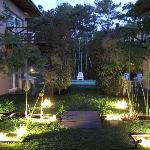 foto de noche jardin
