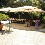La sala in giardino
