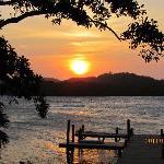 Sunset @ Diving area @ resort
