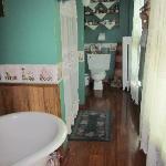 Heirloom Suite - Bathroom / shower half way down on the left