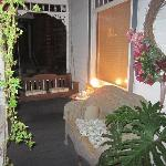 Brierwreath Manor porch at night