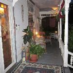 Brierwreath Manor porch at night