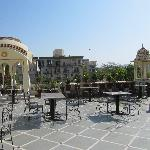 The rooftop terrace with restaurant