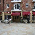 Brasserie Blanc located on a quiet square in Chichester
