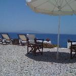 Private lounge area on the sea