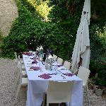 La table pour le repas