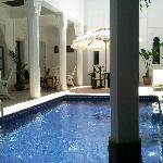 la piscine son patio et coin detente