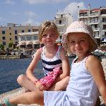 The kids overlooking the Harbour