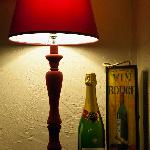 A lamp, some fizz and a box