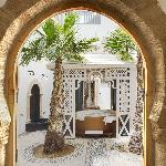 Riad Baladin - View from Saloon into the Patio