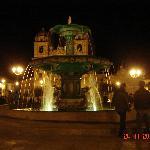 Plaza a la noche
