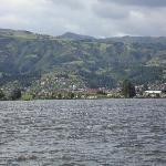 Paipa vista desde el Lago Sochagota