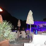 sky pool bar in the night