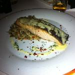 salmon with wild rice and lentils