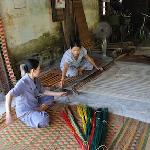 Rush mat weaving