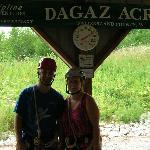 Just before our Dagaz Acres Zipline Adventure began