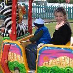 Train ride at the amusements