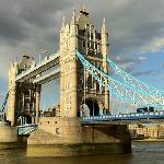 The iconic Tower Bridge straddling The Thames. London.