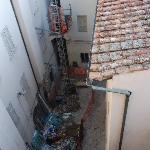 Construction debris outside our window