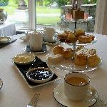 Delicious afternoon tea in The River Room Restaurant