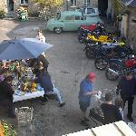 Before the bikeshed was built. Pic taken from the balcony.