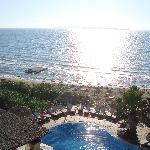 The pool and beach.....