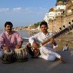 Sandip et Shyam, musiciens de l'ashram