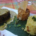 pavé de mahi-mahi et émulsion au curry et noix de coco